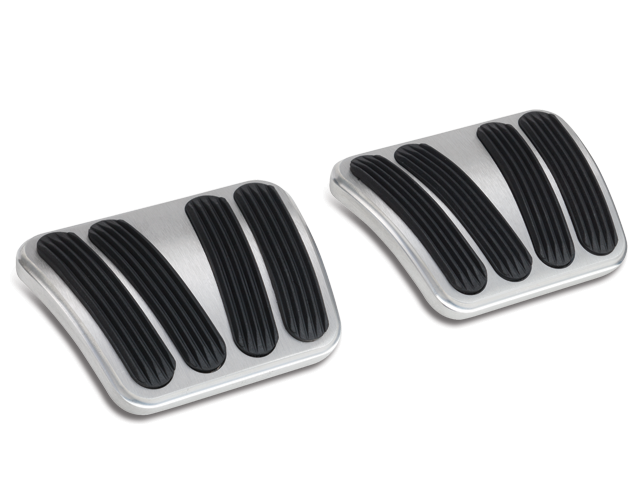 Lokar BAG-6166 Billet Aluminum Curved Automatic Brake Pad with Rubber