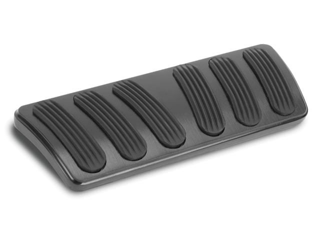 Lokar XBAG-6135 Black Curved Automatic Brake Pad with Insert for Chevelle