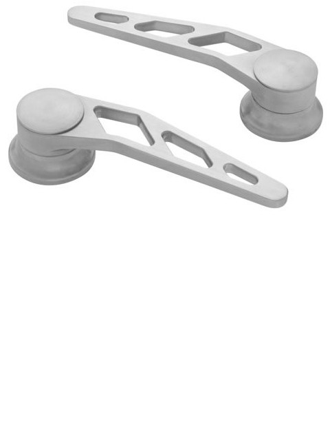 Brushed Door Handles (Pair)