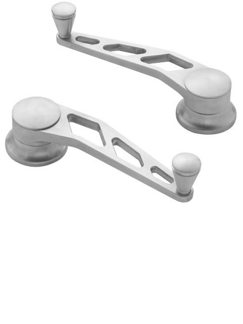 Brushed Window Cranks (Pair)