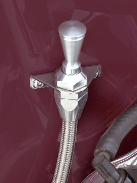 Lokar X1209127 Black 3 Direct Fit Transmission Dipstick with Lock for GM Powerglide Transmission